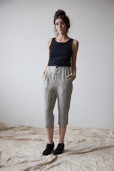 Travertine Striped Cropped Pant