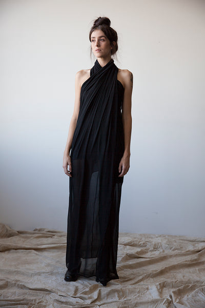 Wrap-Around Silk Dress