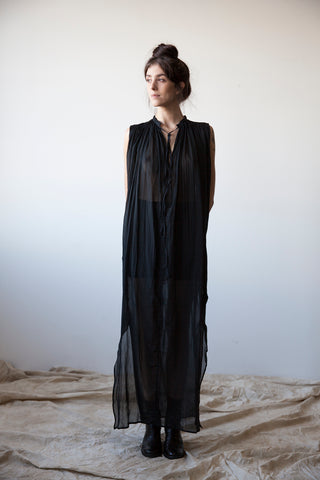 Cotton-Silk Voile Dress