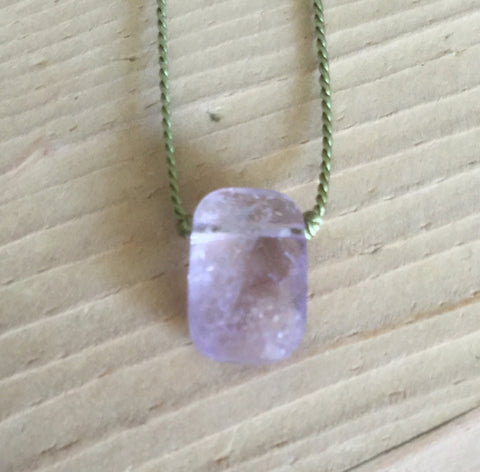 pale lilac amethyst faceted drop pendant