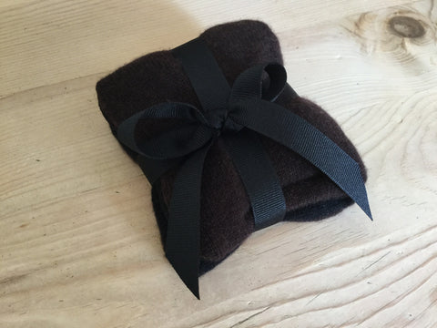 cashmere & organic lavender sachet set - black/brown
