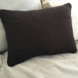 cable-knit cashmere throw pillow
