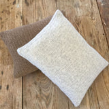 cable-knit cashmere throw pillow - gray