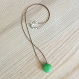 green jade faceted briolette pendant