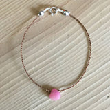 one love pink jade bracelet