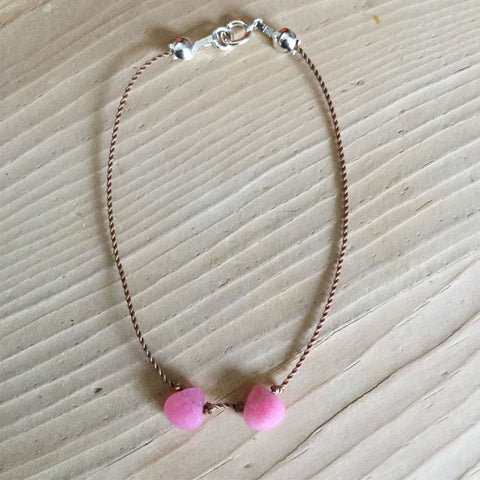 two love pink jade bracelet