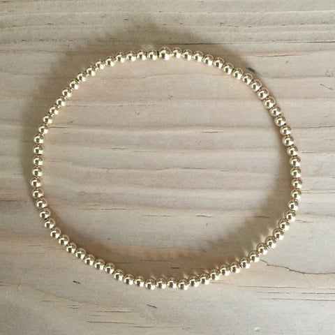 2.5mm gold-filled bead bracelet