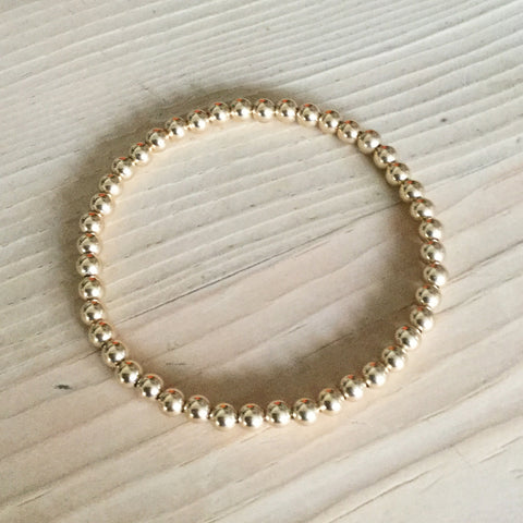 4mm gold-filled bead bracelet