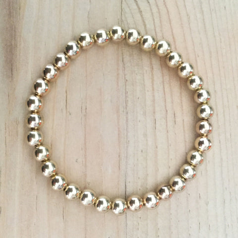 5mm gold-filled bead bracelet
