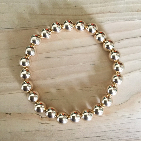 7mm gold-filled bead bracelet