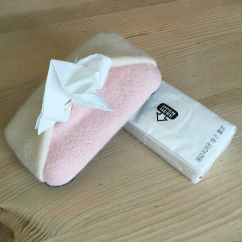 valentine's cashmere tissue holder
