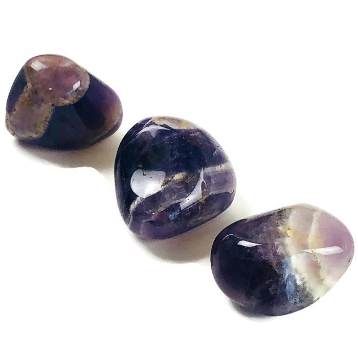 Amethyst Chevron Tumbled Stone Crystals See Only Love