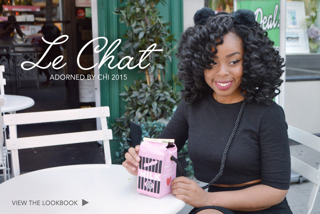 """Le Chat"" Adorned By Chi 2015 Look Book"
