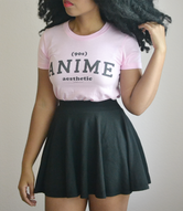 """90s Anime Aesthetic"" Athletic Inspired Short sleeve women's t-shirt (MORE COLORS)"