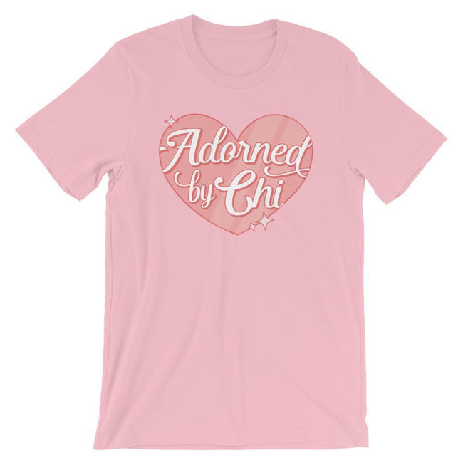 "Adorned By Chi Pink / S ""Adorned by Chi"" Logo Short-Sleeve Unisex T-Shirt"