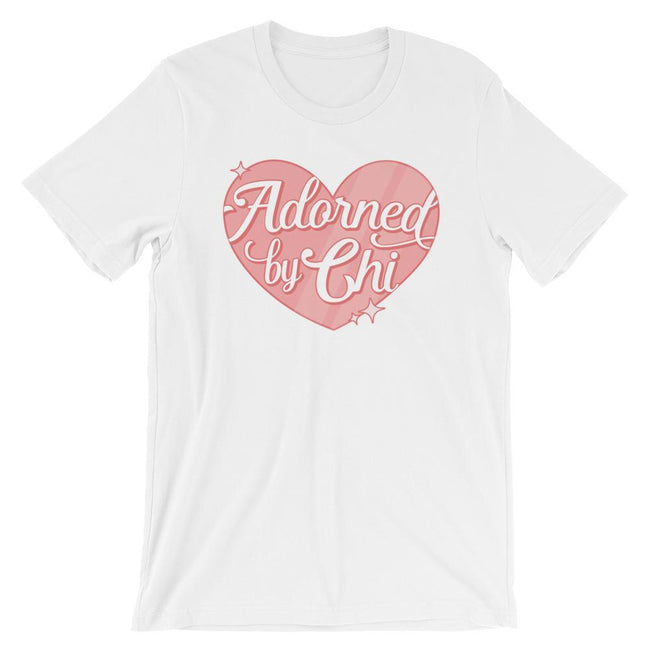 "Adorned By Chi White / S ""Adorned by Chi"" Logo Short-Sleeve Unisex T-Shirt"