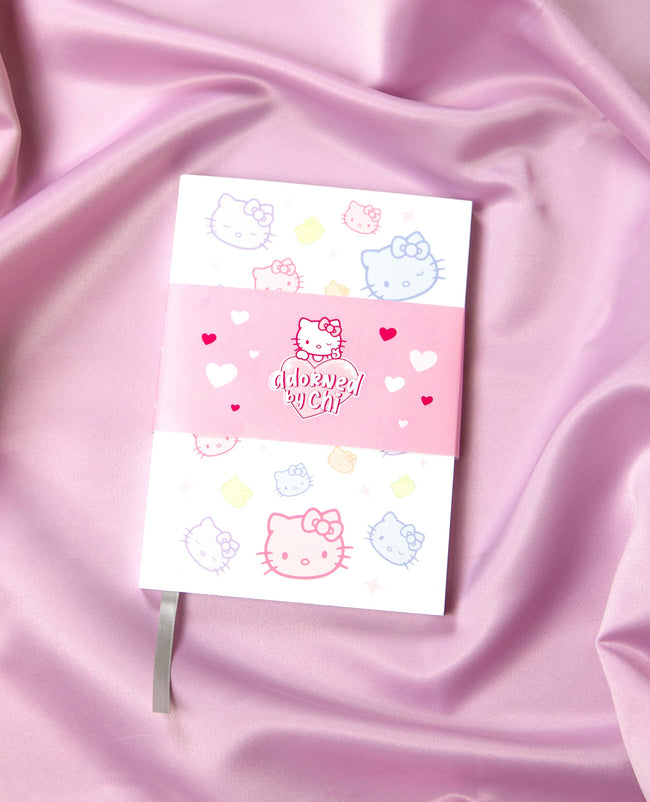 "Adorned By Chi 5""W x 7""H Adorned by Chi x Hello Kitty Notebook"