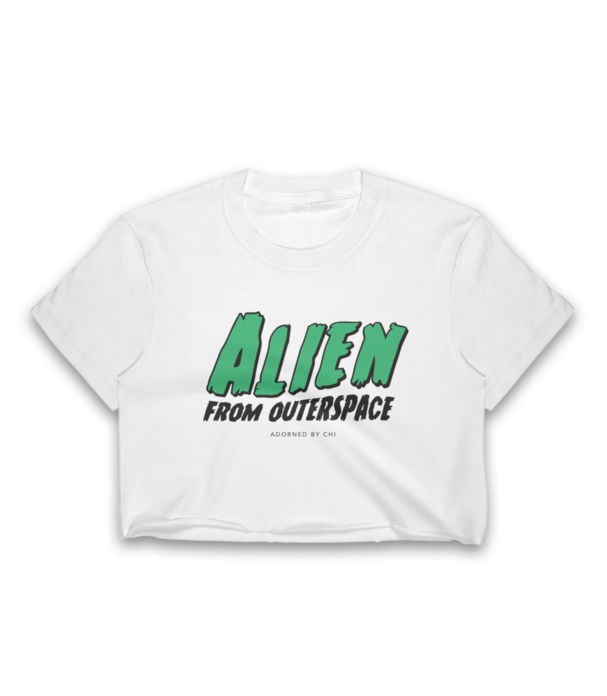 "Adorned By Chi ""Alien From Outerspace"" Women's Crop Top"