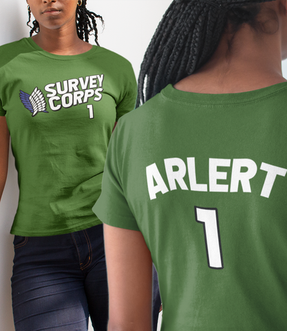 "Adorned By Chi ""Arlert Survey Corps Team Jersey"" Short-Sleeve Unisex T-Shirt"