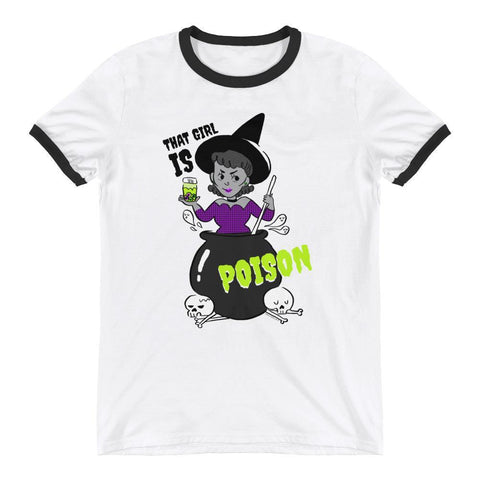 "Adorned By Chi S Bianca Xunise ""That Girl is Poison"" Ringer T-Shirt"