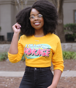 "Adorned By Chi Gold / S Black Girls Anime ""I Call My Man Hokage"" Unisex Long Sleeve T-Shirt"
