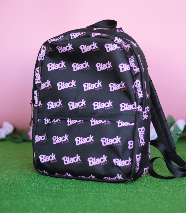 "Adorned By Chi ""Black & Proud"" Backpack"
