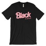 "Adorned By Chi 3XL ""Black & Proud"" Doll Inspired Plus Size UNISEX short sleeve t-shirt"