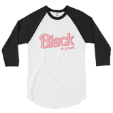 """Black & Proud"" Doll Inspired UNISEX Baseball Tee (More Colors)"