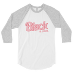 "Adorned By Chi White/Heather Grey / XS ""Black & Proud"" Doll Inspired UNISEX Baseball Tee (More Colors)"