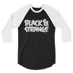 "Adorned By Chi XS ""Black & Strange"" 3D Unisex 3/4 sleeve raglan shirt"