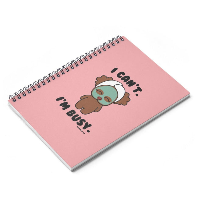 "Printify ""Chi Chi at the Spa"" Spiral Notebook"