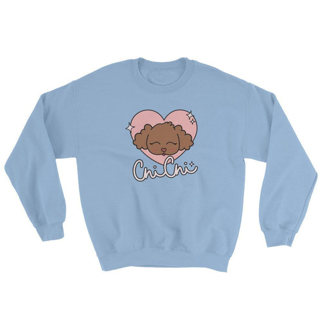 "Adorned By Chi Light Blue / S ""Chi Chi Glamour"" Unisex Sweatshirt"