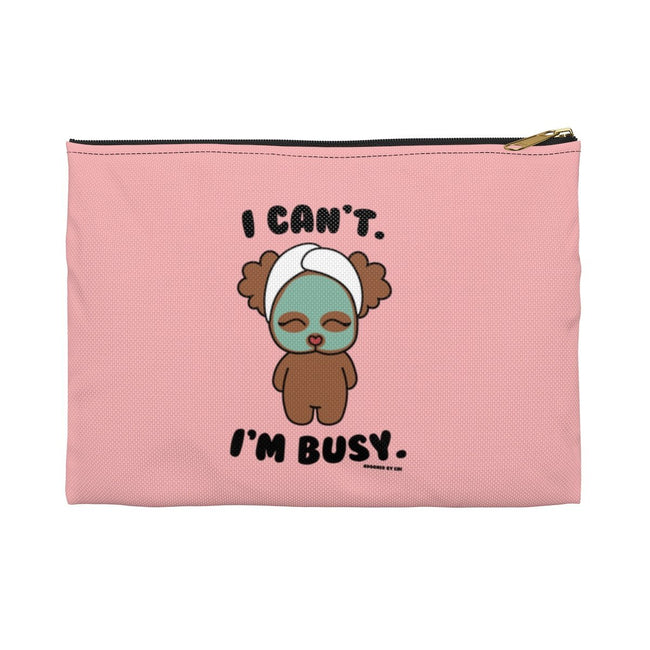 "Printify Small / Black ""Chi Chi Poo at the Spa"" Make Up Pouch"