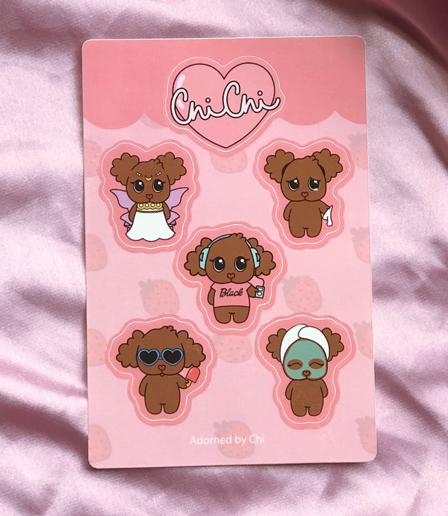 Adorned By Chi Chi Chi! Sticker Sheet