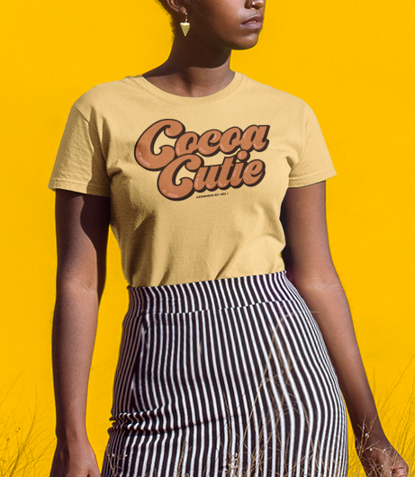 "Adorned By Chi ""Cocoa Cutie"" Short-Sleeve Unisex T-Shirt"