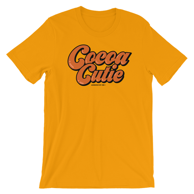 "Adorned By Chi Gold / S ""Cocoa Cutie"" Short-Sleeve Unisex T-Shirt"