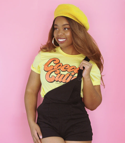"Adorned By Chi Yellow / S ""Cocoa Cutie"" Short-Sleeve Unisex T-Shirt"