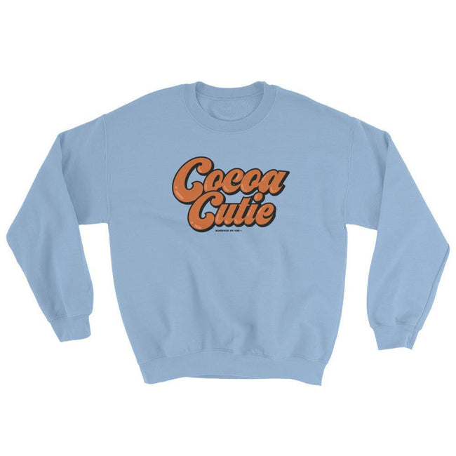 "Adorned By Chi Light Blue / S ""Cocoa Cutie"" Unisex Sweatshirt"