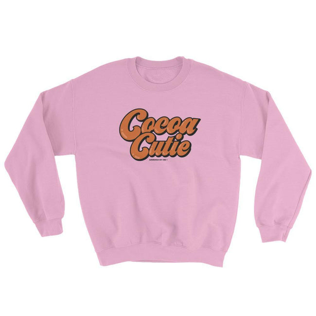 "Adorned By Chi Light Pink / S ""Cocoa Cutie"" Unisex Sweatshirt"