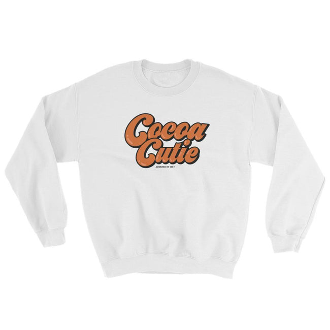 "Adorned By Chi White / S ""Cocoa Cutie"" Unisex Sweatshirt"