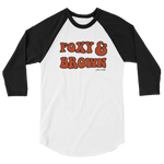 "Adorned By Chi XS ""Foxy & Brown"" Unisex 3/4 sleeve raglan shirt"