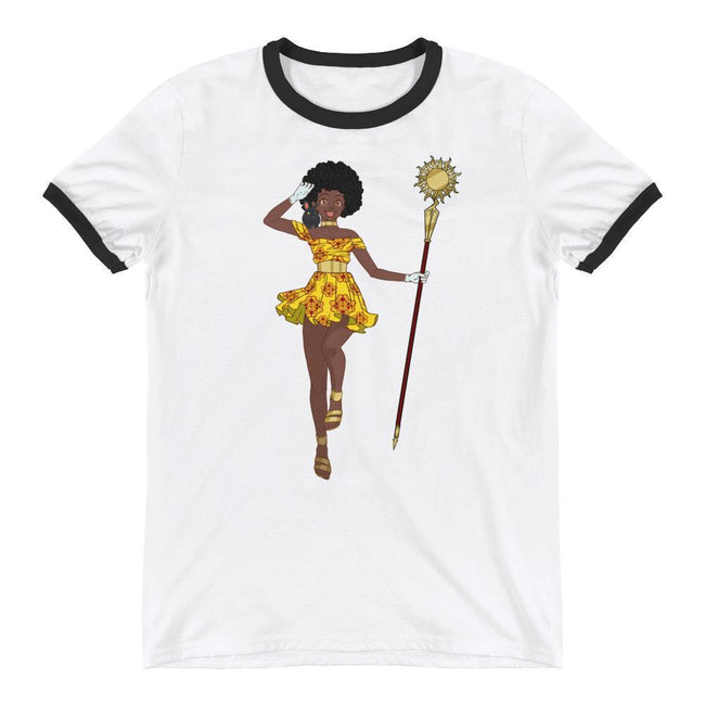 Adorned By Chi S Gogo! Unisex Ringer T-Shirt