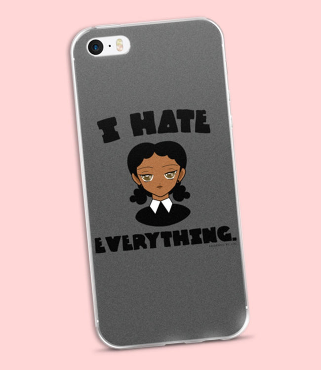 "Adorned By Chi ""I Hate Everything"" iPhone 5/5s/Se, 6/6s, 6/6s Plus Case"