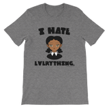 "Adorned By Chi Deep Heather / S ""I Hate Everything"" Unisex short sleeve t-shirt (More Colors)"