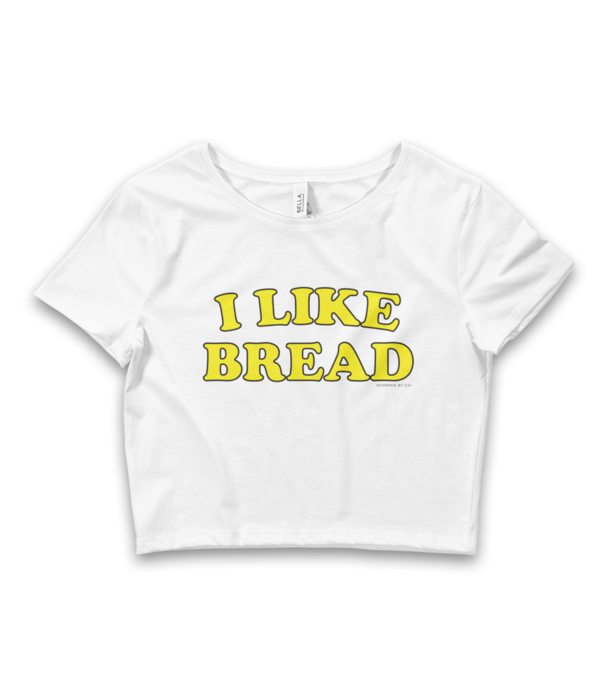 "Adorned By Chi ""I Like Bread"" Women's Crop Tee"