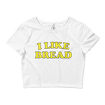 "Adorned By Chi XS/SM ""I Like Bread"" Women's Crop Tee"