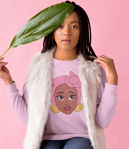 "Adorned By Chi ""Kawaii Adaeze"" Unisex Long Sleeve T-Shirt"