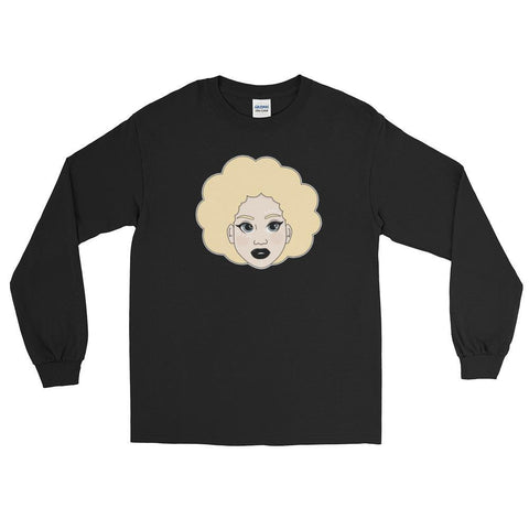 "Adorned By Chi Black / S ""Kawaii Kelechi"" Unisex Long Sleeve T-Shirt"