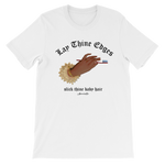 "Adorned By Chi S ""Lay Thine Edges"" Unisex short sleeve t-shirt"