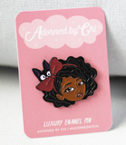 "Adorned By Chi ""Little Kiki"" KiKi's Delivery Service Inspired Soft Enamel Pin"